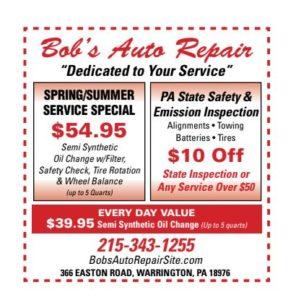 bobs auto coupon